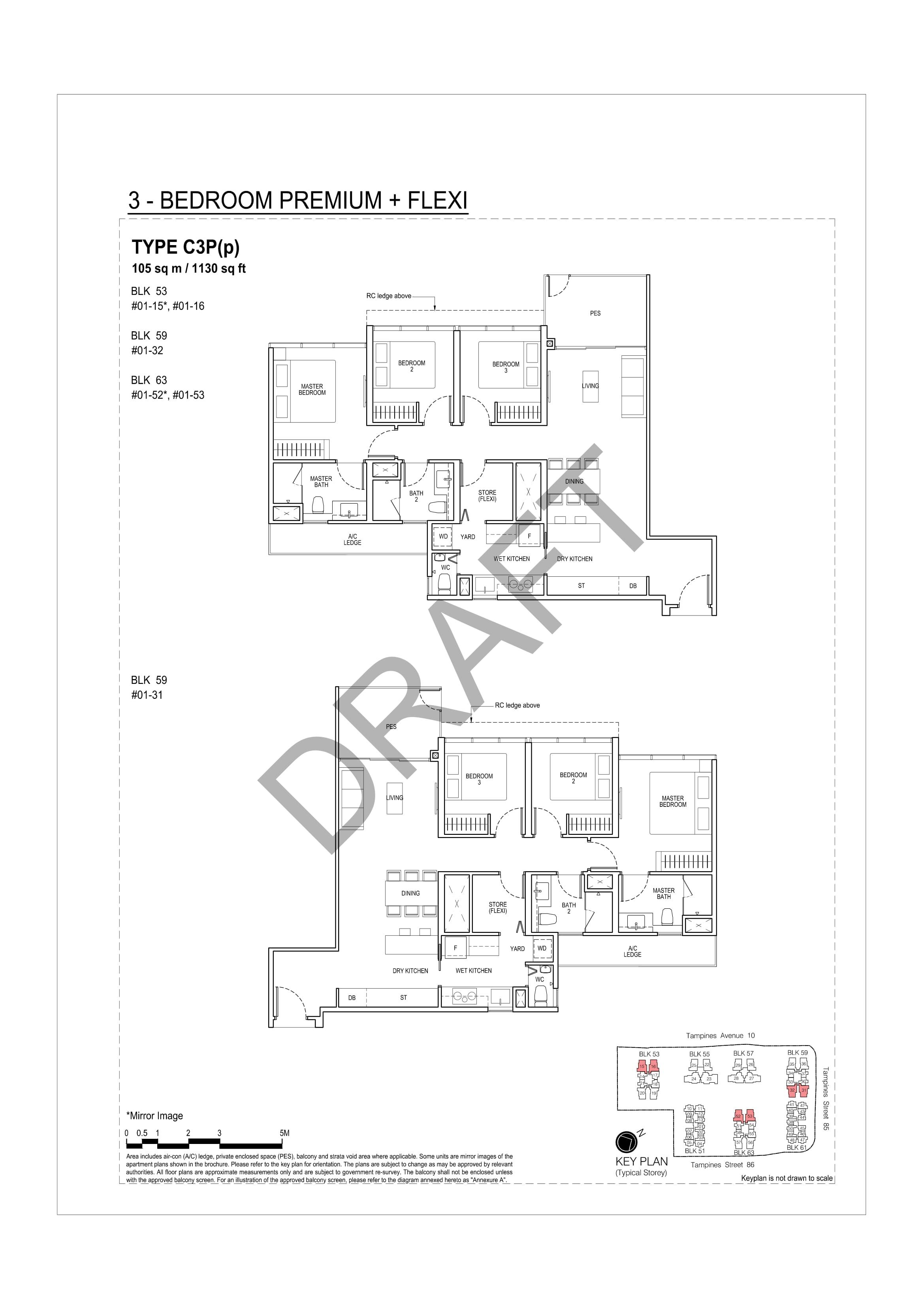 3 Bedroom Premium + Flexi A