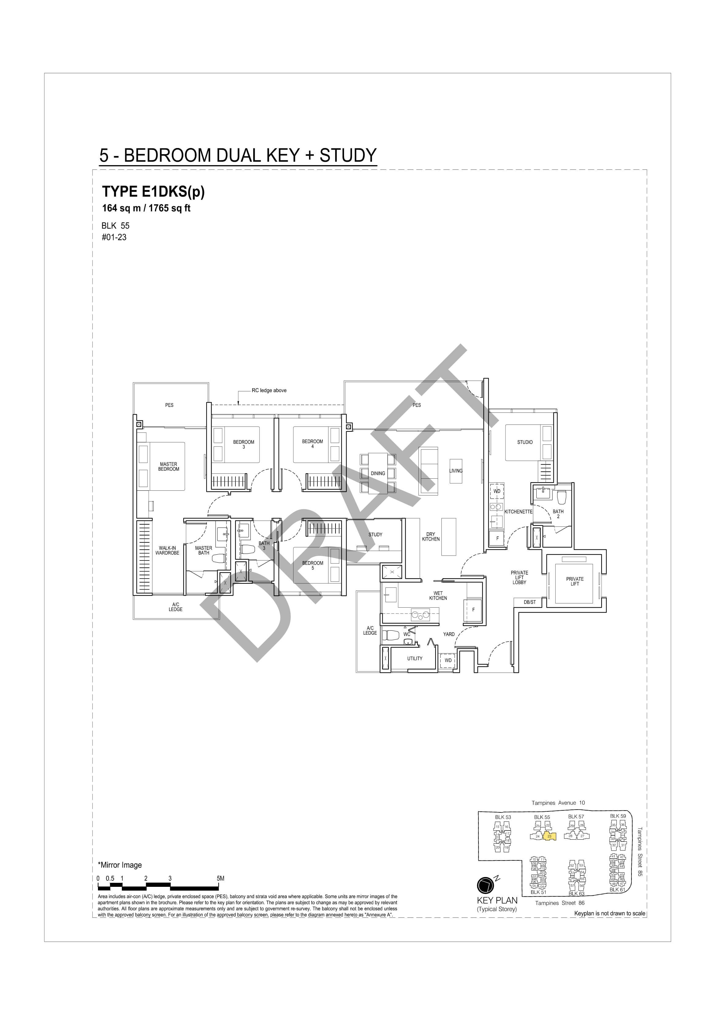 5 Bedroom DK + Study A